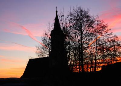 Kirche im Abendrot