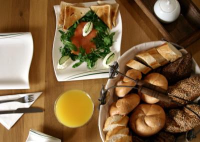 Lachsfrühstück