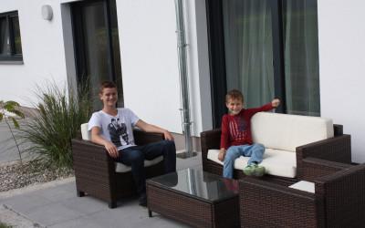 Auf der Terrasse